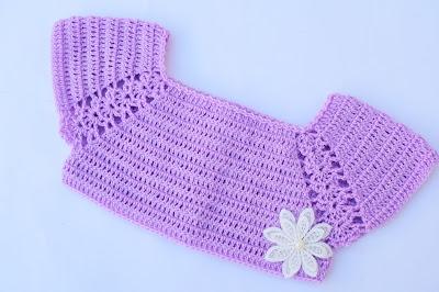 1 - Crochet Imagen Lindo canesú morado a crochet y ganchillo por Majovel Crochet