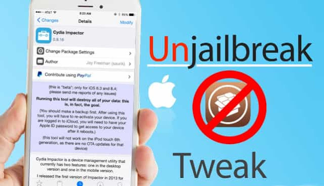 Langkah mengembalikan iphone jailbreak ke normal tanpa komputer dan menghapus data.