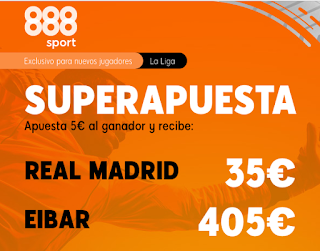 888sport Superapuesta Liga Real Madrid vs Eibar 14 junio 2020