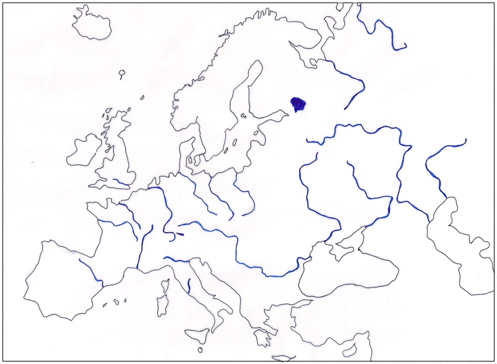we are in grade 6 november 2015 Map of European Peninsula's lakes are usually fed by rivers which flow into them but they also receive rainfall lake ladoga is the biggest lake in europe other important lake is lake