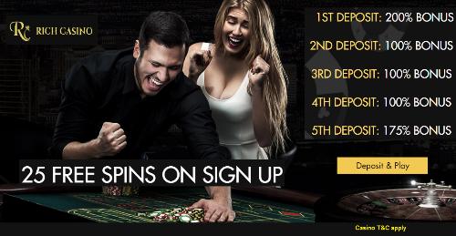 Welcome Bonuses | Rich Casino