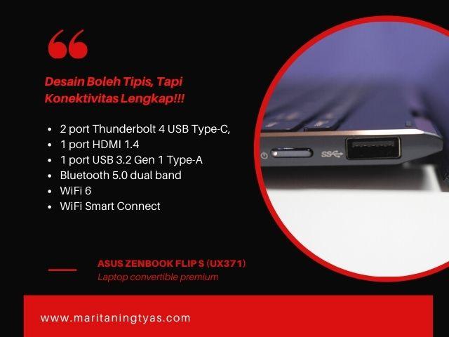 konektivitas laptop zenbook flip s ux371