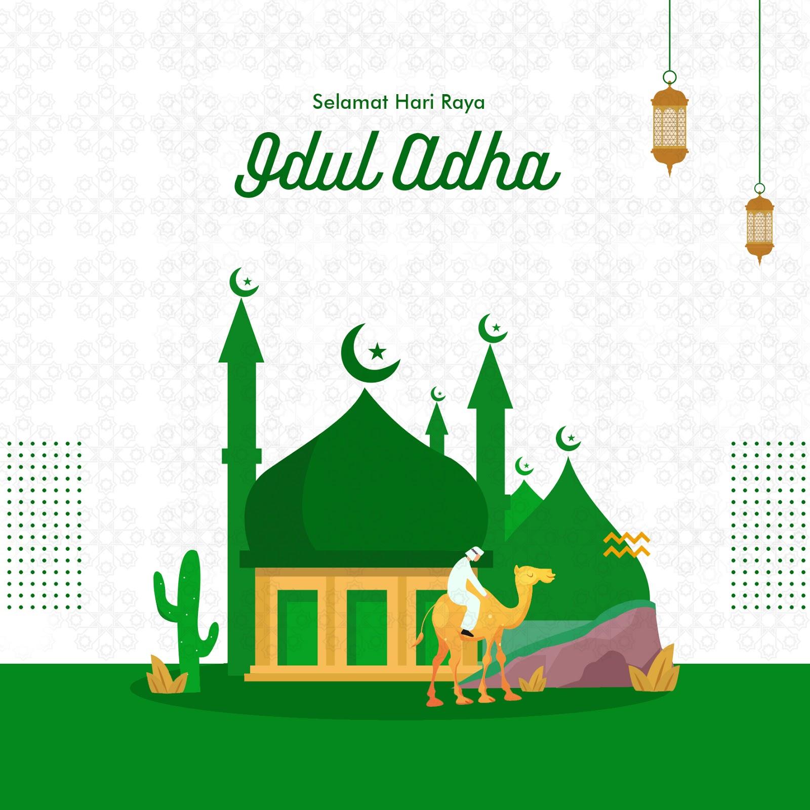 Gambar ucapan selamat hari raya idul adha terbaru 2020 1441 Hijriah bisa diedit, vector, gambar masjid