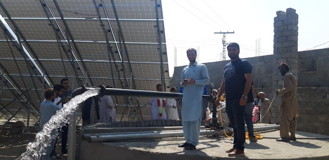 First solar system drinking water scheme completed at Chitral