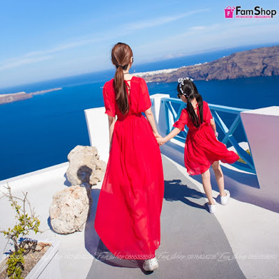 Váy maxi mẹ và bé gái M503