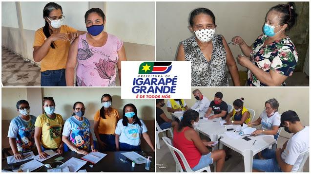 Com muita eficiência, Igarapé Grande segue vacinando a população.