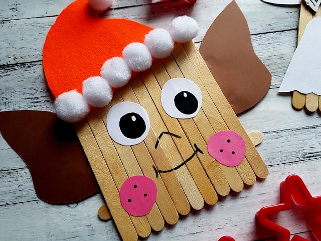 ozdoby świąteczne DIY z patyczków do lodów , Boże Narodzenie