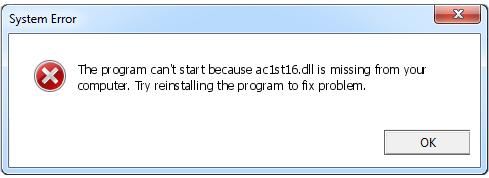 Télécharger Ac1st16.dll Fichier Gratuit Installer