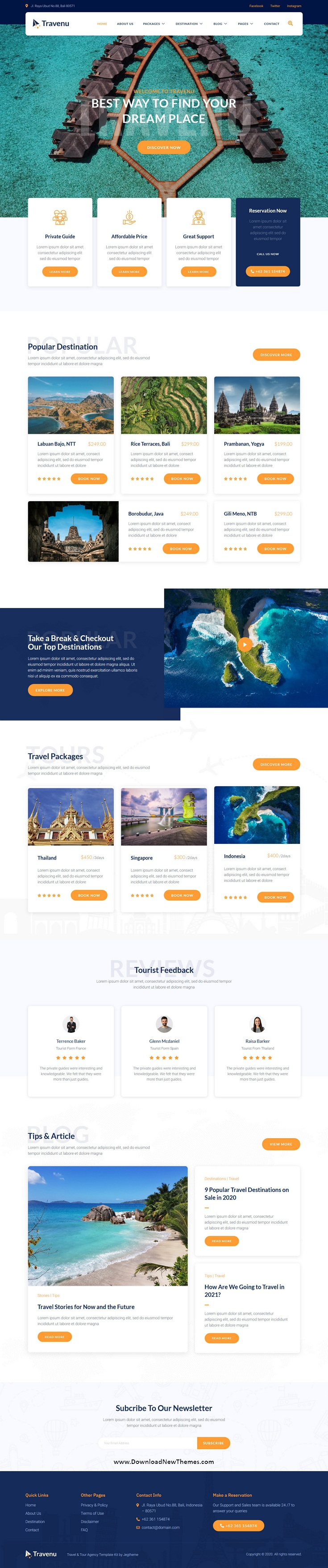 Travel and Tour Agency Website Template