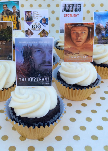 2016 Academy Award Party Cupcake Toppers - Nominees for Best Picture | www.jacolynmurphy.com