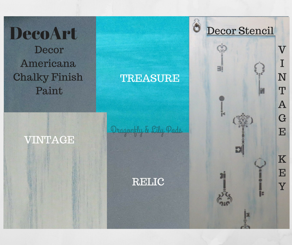 DecoArt Story board for cabinet transformation, Vintage, Relic, Treasure, Layers, Decor Vintage Key Stencil