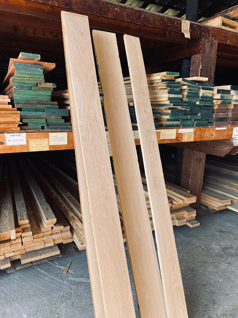 long white oak boards to use for DIY shelves