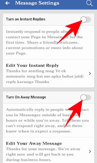 Facebook page auto reply start kaise kare 5