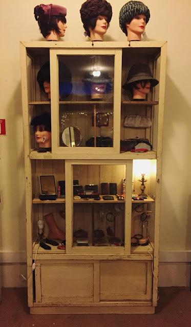 estante, vitrine, antiga, retrosaria, vintage, shabby chic