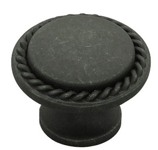 dark antique pewter knob - FHF