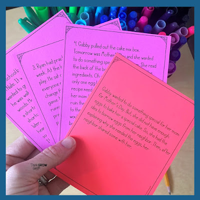 differentiated summarizing task card activity