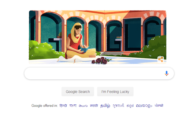Google has respected Amrita Pritam's 100th birthday celebration with a doodle today