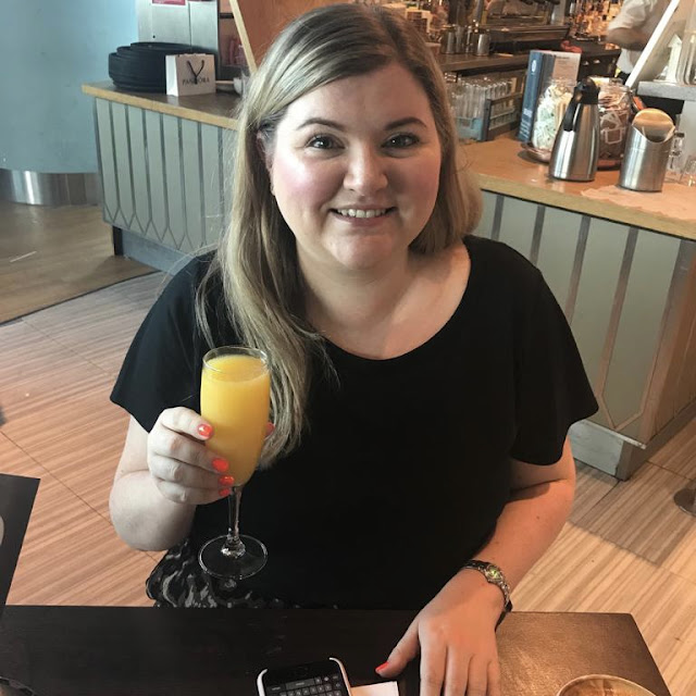 Mimosa at Manchester Airport ahead of our PortuGals Trip