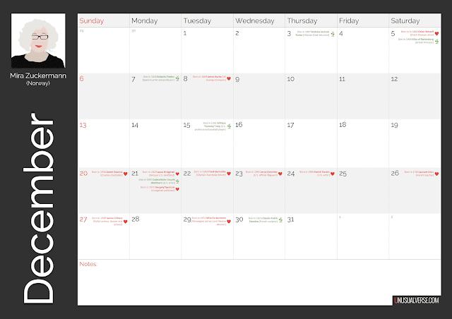 Deaf Calendar December 2020