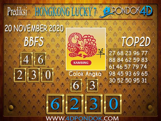Prediksi Togel HONGKONG LUCKY 7 PONDOK4D 20 NOVEMBER 2020