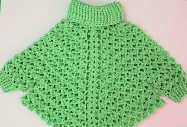 4 -Crochet Imagen Poncho con mangas a crochet y ganchillo por Majovel Crochet