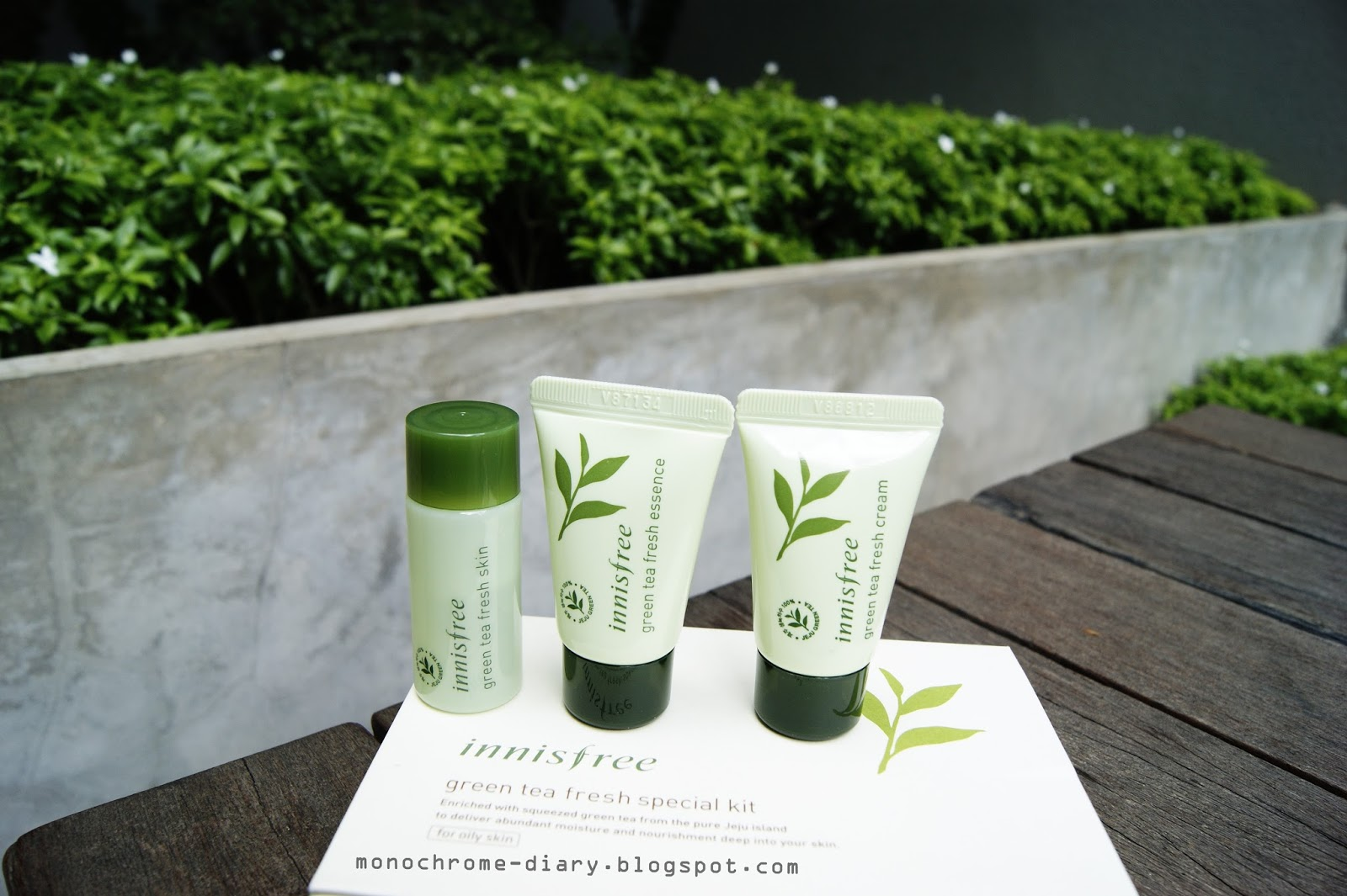 Innisfree Greentea Fresh Special Kit Review Kiko Kim Green Tea Balancing 4 Items This There Are Toner Essence And Cream They Produced By Yes Suits For Oily Skin Type