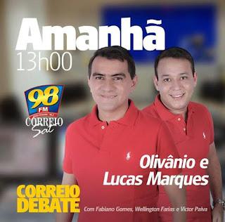 Olivânio participará de entrevista no programa Correio Debate da 98 FM