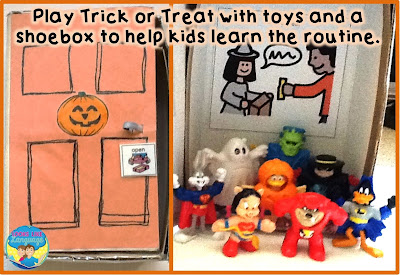 Familiarizing young or autistic kids with trick or treating makes it less scary.