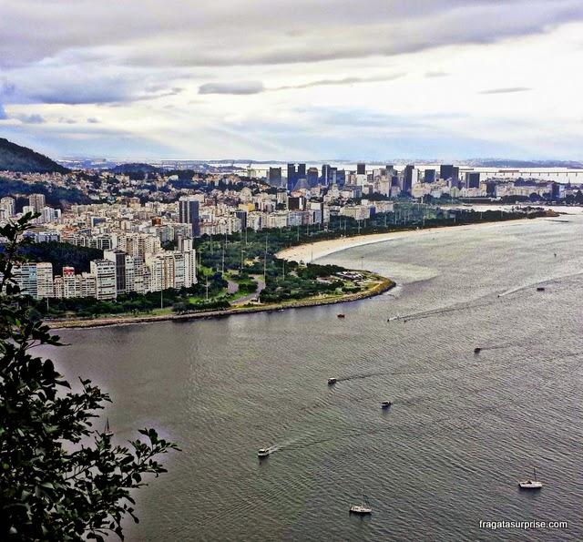 O bairro do Flamengo visto do alto do Morro da Urca