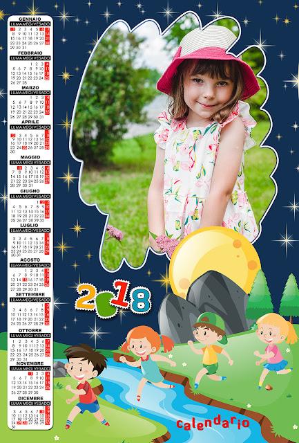 Calendario 2018 per bambini