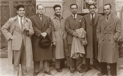 Equipo de ajedrez del Casal Catòlic de Sant Andreu en 1951