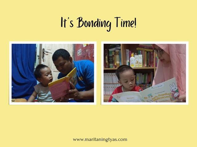 membaca buku sebagai sarana bonding