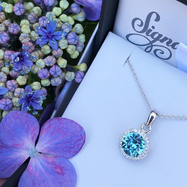 so beautiful! Aquamarine Crystal Signature Pendant