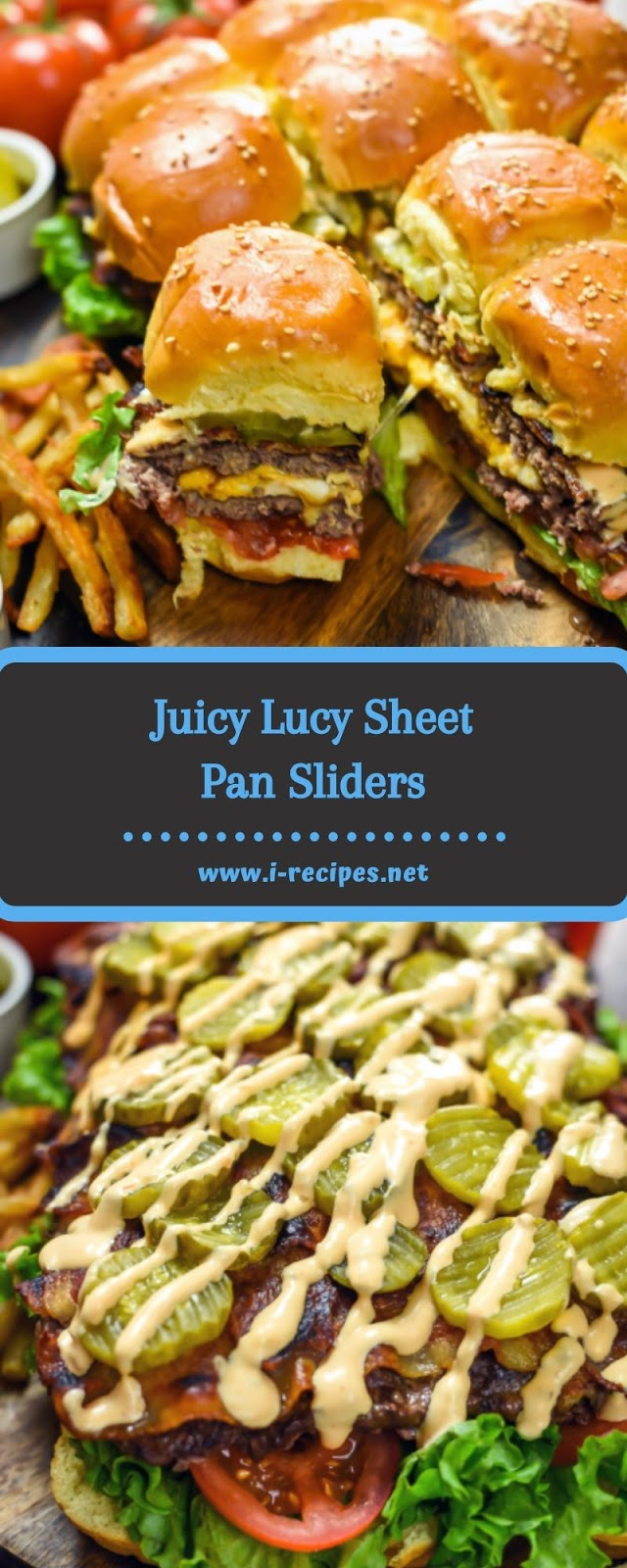 Juicy Lucy Sheet Pan Sliders