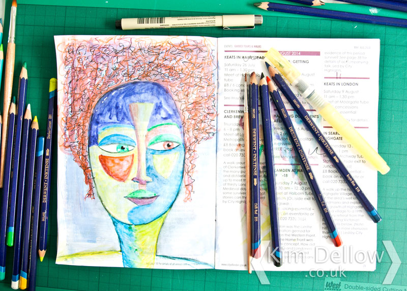 A multicoloured face inspired by June Walker