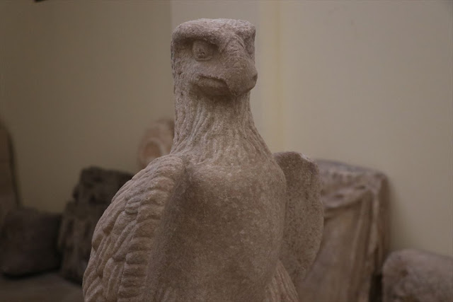 Ancient eagle sculptures found in Anatolian Hellenistic temple