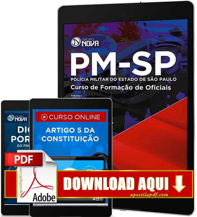 Apostila PM SP 2016 PDF Download Curso de Formação de Oficiais