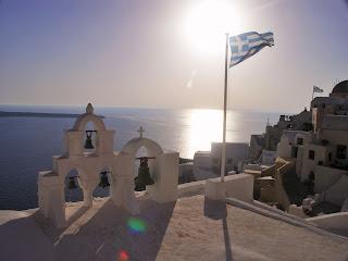 Santorini, Oia, Sunset, zachód słońca