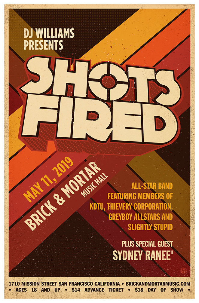 5/11/2019	DJ Williams Shots Fired All Star Band at Brick & Mortar  **WIN TICKETS**