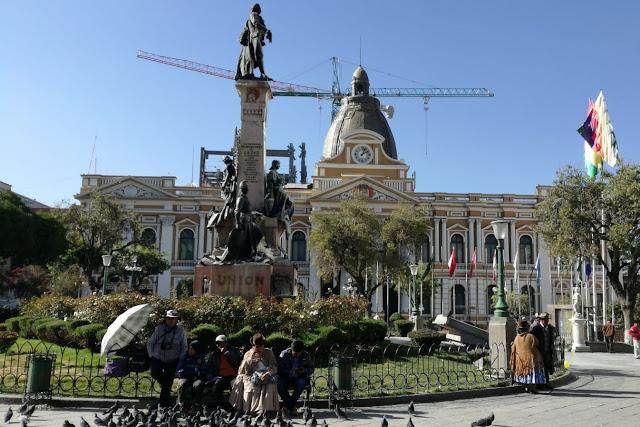 Plaza Murillo a La Paz, Bolivia