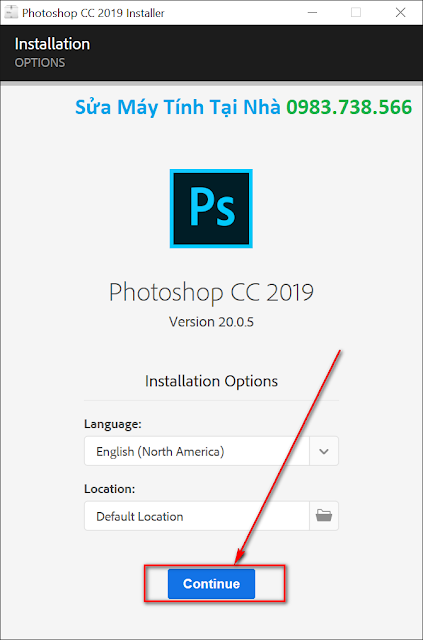 Quá trình cài đặt Adobe Photoshop 2019