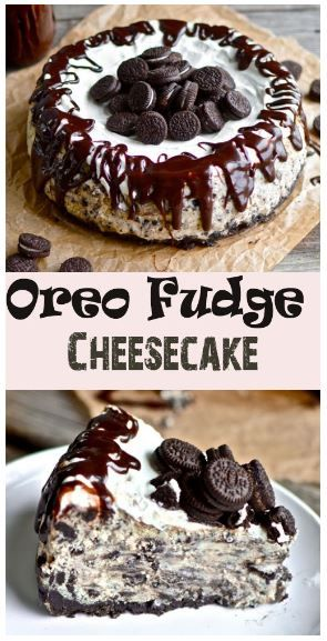 "BEST Oreo Fudge Cheesecake - You're probably thinking to yourself, ""My goodness. What an incredibly rustic looking cheesecake that is.""Well, that's what twenty dollars ..."