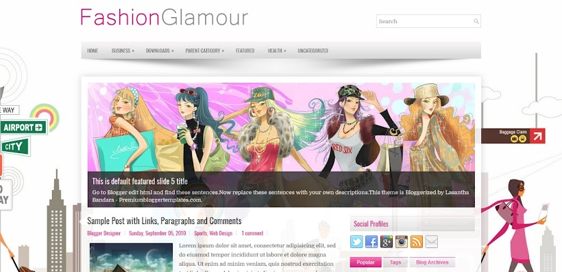 FashionGlamour Free Blogger Template