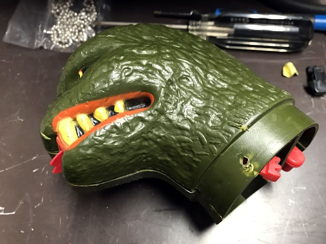Repairing a Mattel Shogun Warriors Godzilla Lever