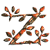 Abecedario de Hojas. Alphabet of Leaves.