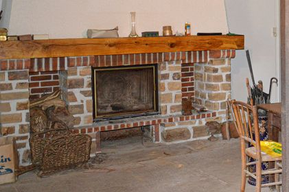 Ancien cheminée, fireplace, DIY, how to remove a fireplace,