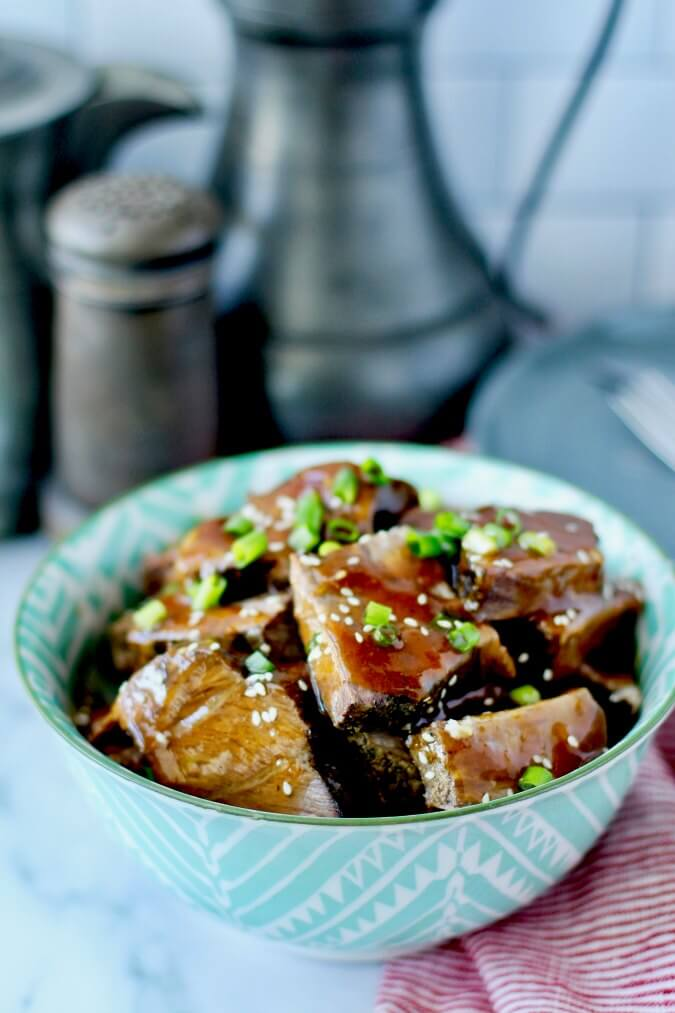 Slow Cooker Asian Pot Roast in a bowl