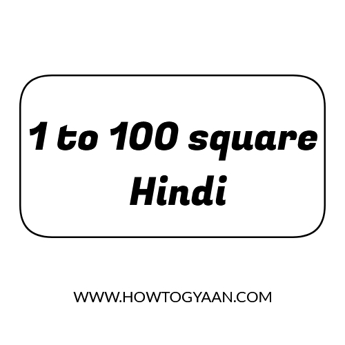 square numbers from 1 to 100, square table 1 to 100, squares upto 100, one to hundred square, 1 to 100 varg