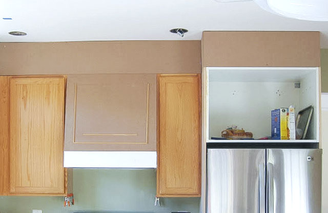 how to close the space above kitchen cabinets