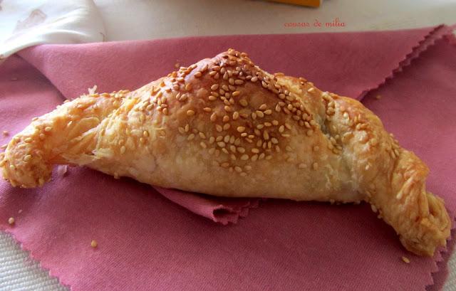 Croissant con relleno vegetariano